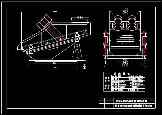 ZSG1525矿用振动筛图纸
